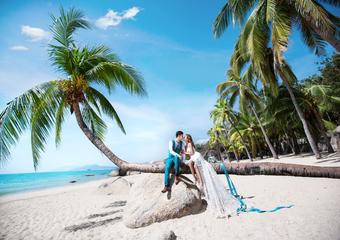 三亚婚纱摄影景点-三亚湾